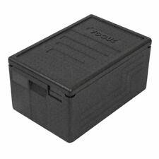 More details for vogue epp insulated food carrier box - black expanded polypropylene - 20 cm 46 l