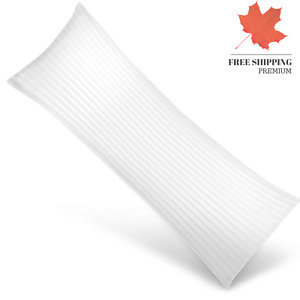 Ultra Soft Body Pillow - Long Side Sleeper Pillows - 100 Cotton Cover with So...