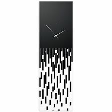 Surreal Wall Clock Techy Style Decor Abstract Accent Piece Black Transparent CLK
