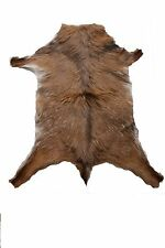 Goat skin leather rug 100% natural Portuguese dark brown HIGH QUALITY bedroom
