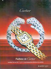 ▬► PUBLICITE ADVERTISING AD WATCH MONTRE CARTIER Panthère 1985