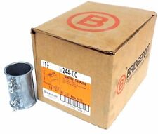 "BOX OF 10 NEW BRIDGEPORT 244-DC 1 1/2"" ZINC EMT COUPLINGS 244DC"