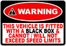 Black Box Car Warning Sticker. Car Window Bumper. Young  New Drivers 100 x 70mm