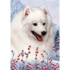 Winter Garden Flag - Japanese Spitz 154011