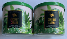 Bath & Body Works COCONUT CABANA 3-Wick Scented Candle NWT 14.5 oz