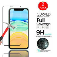 For iPhone 11 Pro Max 2019 2X Full Cover Tempered Glass Premium Screen Protector