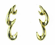 LADIES UNIQUE ABSTRACT LOOK HOOK EARRINGS BRAND NEW STATEMENT(ZX4)