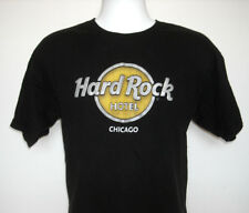 MENS HARD ROCK HOTEL CHICAGO T SHIRT LARGE BLACK LOVE ALL SERVE ALL