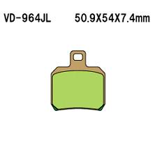 Vesrah Sintered Metal Rear Brake Pads  VD-964JL
