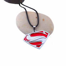 Herren Superman Anhänger Halskette aus Edelstahl
