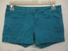 Aeropostale Women's 8 Cotton Solid Blue Casual Shorts