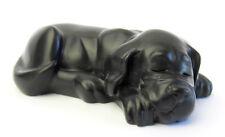 Quintessence (UK) Dog - Sleepy Puppy Dog Figurine - Black