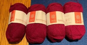 Jamieson and Smith of Shetland 2ply Shetland 2 ply lace yarn batch of 4 skeins