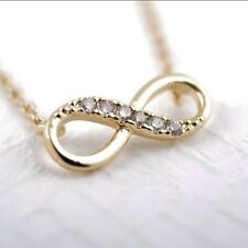 New Infinity 8 Pendant 18k Gold Plated Necklace Chain Charm Eternity Fashion B1