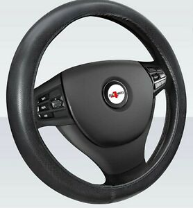 For Vauxhall Opel Soft Grip Black Leather Effect Car Steering Wheel Cover