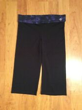 Zumba Wear Capri Pants Womens Black Purple Dance Fitness Comfort Size XL