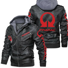 New ListingPramac Racing Motorcycles-Leather Jacket,Unisex Warm Jacket,Winter Outer Wear