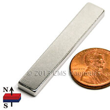 "Neodymium Magnet N38 1 7/8x5/8x1/8"" NdFeB Rare Earth Rectangle Magnet 4 PC"