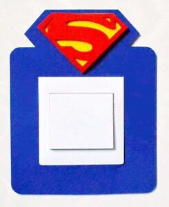 Super Cool 3D Superman Icon Light Switch Wall Sticker Kids Boys Girls Nursery