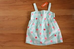 NWT Gymboree Ice Cream Parlor Mint Green & Pink Geo Flower Smocked Top Size 8