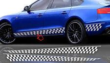 2x Seitenaufkleber Rennflaggen Dekor Autoaufkleber Seitenstreifen Aufkleber #50