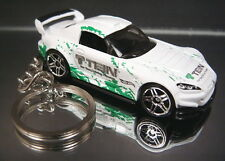 White Honda S2000 Diecast Key Chain Ring