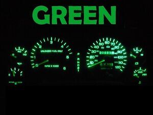 Gauge Cluster LED Dashboard Bulbs Green For 1994 1997 Dodge Ram 1500 2500 Truck