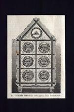 La vetrata simbolica della signora Celina Dominikowsk Incisione del 1869