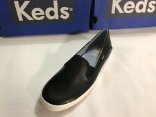 Keds Women's Crashback Slip On Black Leather