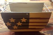 Stars and Stripes Wire Basket With Handle