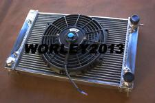 Aluminum radiator + fan for VW CORRADO SCIROCCO JETTA GOLF GTI MK2 1.8 16V 86-92