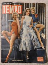 TEMPO n.51 17 dicembre 1953 Marilin Monroe, Lauren Bacall, Betty Grable