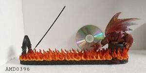 FIRE GUARDIAN LARGE INCENSE BURNER Fantasy Gothic Dragon