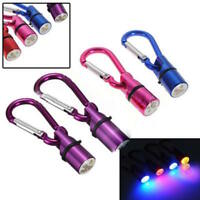 LED FLASHING PET TAG COLLAR CHARM dog cat night safety light-up clip-on metal