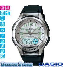 Casio AQ180W-7BV Men's Resin Band Silver Dial Analog Digital Databank Watch New!