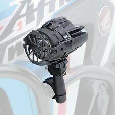 Motorrad LED Zusatzscheinwerfer mit Sturzbügel Halter und Schutzgitter SX22