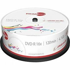 50 PRIMEON Dvd-r Stampabili 4.7gb 120 minuti 16x Print Inkjet Cake -r 2761205