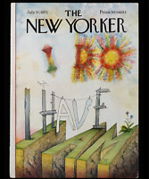 "The New Yorker COVER ONLY July 31 1971 | Cover By: Saul Steinberg ""I Do I Have"