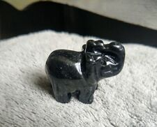 Black Obsidian elephant protection crystal healing spiritual support