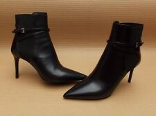 PRADA BLACK POINTED LEATHER ANKLE BOOTS LADIES>GENUINE>£695>37>4uk>WOMENS>BOOTIE