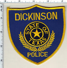 Dickinson Police (Texas) Shoulder Patch from 1995
