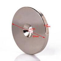 N52 Aimant Néodyme Magnet Disque Rond 50x5mm Trou 6mm Terres Rares Magnétique