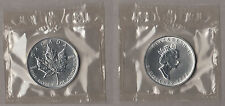 CANADA 5 DOLLARI  ARGENTO SILVER MAPLE LEAF 1999 1 Oz. MINT SEALED FOGLIA ACERO
