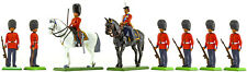 Britains Scots Guards at Ease with Queen & Officer - Toy Soldiers set 000802