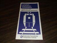 JUNE 1979 CONRAIL/SEPTA LANSDALE/DOYLESTOWN-PHILADELPHIA PUBLIC TIMETABLE