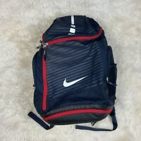 Nike Elite Backpack Red White Blue Max Air Straps Basketball Hoops GUC