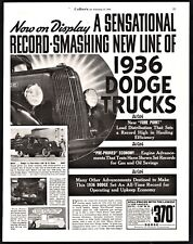 1936 DODGE 1 1/2 ton Stake Side Truck Photo AD