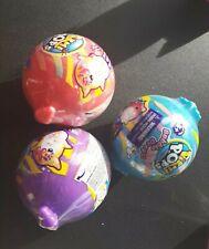 Lot of 3 Pikmi Pops Surprise Bubble Drops Neon Wild Plush Squeezer