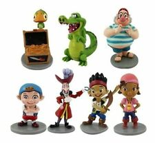 7PCS/ Set Jake And The Neverland Pirates PVC Figure Figurine Toy Dolls 5-9cm