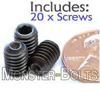 6mm x 1.00 x 8mm - Qty 20 - DIN 916 CUP Point Socket SET SCREWS Allen - M6 Grub